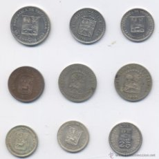 Monedas antiguas de América: LOTE DE VENEZUELA- 5 CENTIMOS-25 CENTIMOS-50 CENTIMOS-PLATA. Lote 49701242
