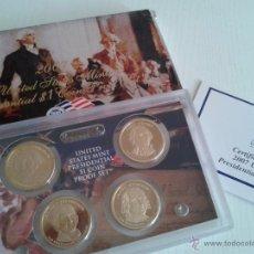 Monedas antiguas de América: BONITO SET DE 4 MONEDAS 1$ 2007 PRESIDENTES DE ESTADOS UNIDOS ADAMS WASHINGTON JEFFERSON Y MADISON. Lote 50335419
