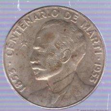 Monedas antiguas de América: CUBA. 1 PESO. CENTENARIO DE MARTI. 1953. Lote 51006313
