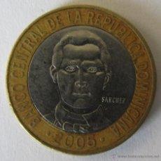 Monedas antiguas de América: REPUBLICA DOMINICANA 5 PESOS 2005 KM 89. BIMETAL. Lote 51210875
