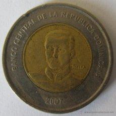 Monedas antiguas de América: REP DOMINICANA 10 PESOS 2007 KM 106. BIMETAL. Lote 51210888