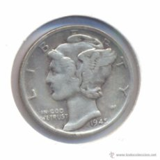 Monedas antiguas de América: MONEDA ESTADOS UNIDOS 1 DIME AÑO 1945 PLATA. Lote 51471341