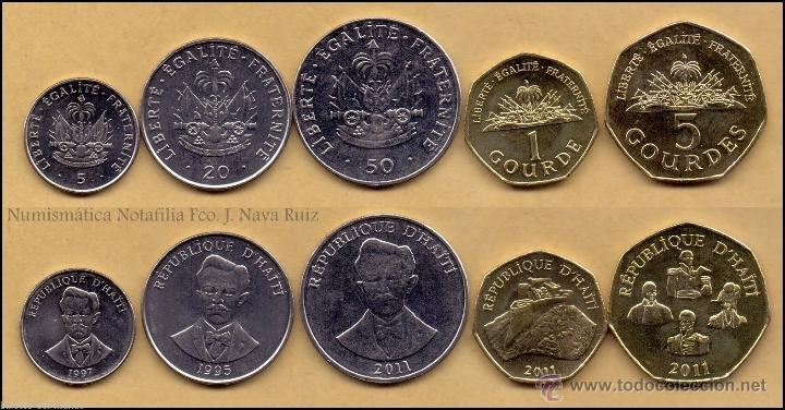 haiti set 5-20-50 cents 1-5 gourdes 1995/2011 - Comprar
