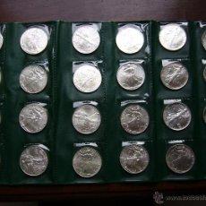 Monedas antiguas de América: LOTE DE 24 MONEDAS DE PLATA 1 DOLAR 1986 A 2009 USA SILVER EAGLE DOLLAR. Lote 56679339
