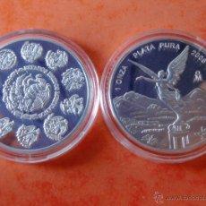 Monedas antiguas de América: MONEDA LIBERTY DE MEXICO Y E.E.U.U DE PLATA.. Lote 52455483