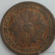 Monedas antiguas de América: ESCASA MONEDA REPUBLICA DE URUGUAY 4 CENTESIMOS 1869 A MBC. Lote 52598929
