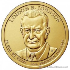 Monnaies anciennes d'Amérique: ESTADOS UNIDOS / USA 1$ 2015 PRESIDENTE 36º LYNDON B. JOHNSON (1963-1969) D. Lote 201475090