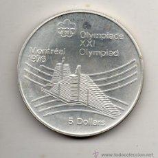 Monedas antiguas de América: CANADÁ. 5 DÓLARES. AÑO 1976. XXI OLIMPIADA, MONTREAL 76. SIN CIRCULAR. PLATA.. Lote 52862215