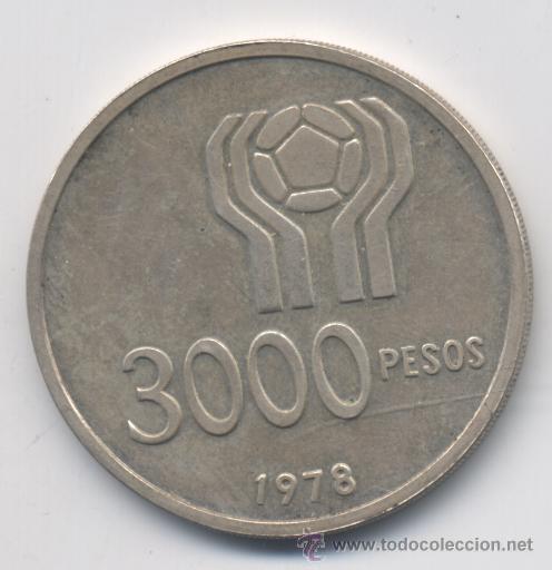 Monedas antiguas de América: ARGENTINA- 3000 PESOS-1978-PLATA-SC - Foto 2 - 53395308