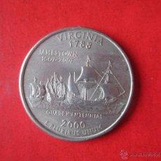 Monedas antiguas de América: USA. MONEDA DE 1/4 DE DOLLAR. 2000 P. VIRGINIA. Lote 53453428