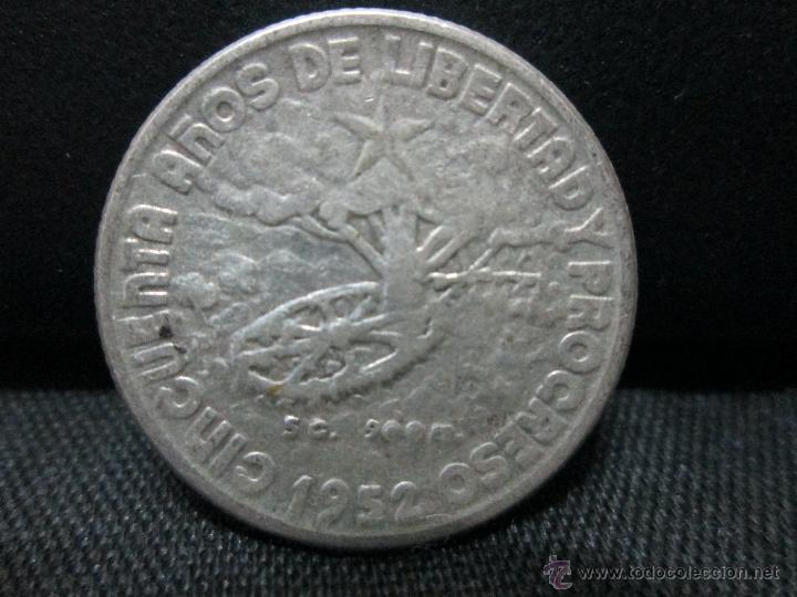 Monedas antiguas de América: 20 centavos 1952 cuba plata - Foto 2 - 53495011