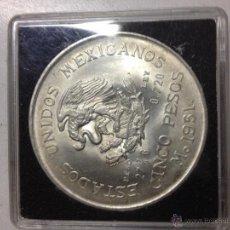Monedas antiguas de América: MONEDA 5 PESOS PLATA MEXICO. Lote 53658197