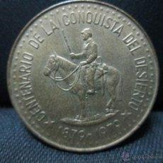 Monedas antiguas de América: 100 PESOS 1979 ARGENTINA CONMEMORATIVA LA CONQUISTA DEL DESIERTO 1879 = 1979. Lote 53832520
