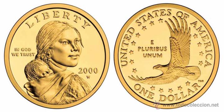 Edunava Eeuu Usa 1 Dolar Nativos Americanos 200 Comprar