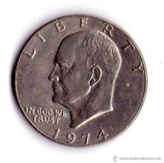 Monedas antiguas de América: MONEDA DE UN DOLAR USA 1974. Lote 53959456