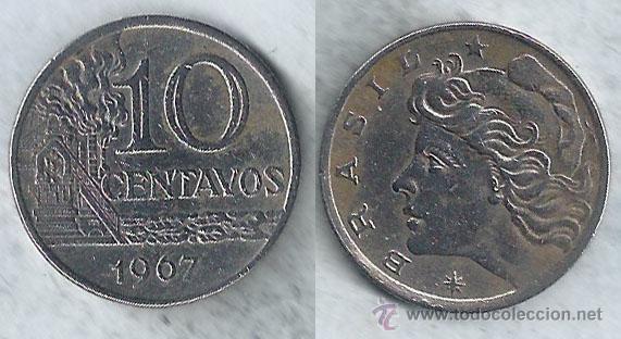 BRASIL - 10 CENTAVOS - 1967 (Numismática - Extranjeras - América)