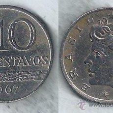Monedas antiguas de América: BRASIL - 10 CENTAVOS - 1967. Lote 54033687