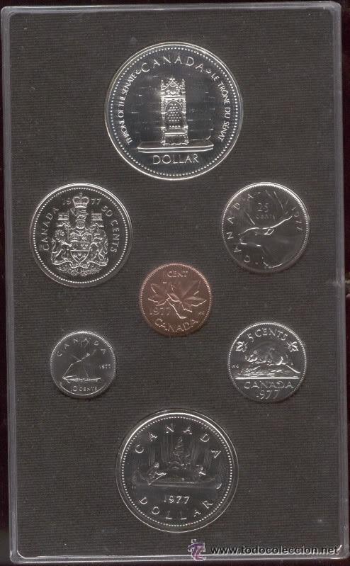 7 MONEDAS CANADIENSES 1977 (Numismática - Extranjeras - América)