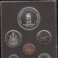 Monedas antiguas de América: 7 MONEDAS CANADIENSES 1977. Lote 54208728