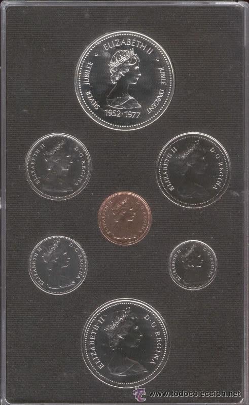 Monedas antiguas de América: 7 MONEDAS CANADIENSES 1977 - Foto 2 - 54208728
