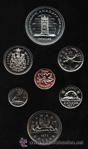 Monedas antiguas de América: 7 MONEDAS CANADIENSES 1977 - Foto 3 - 54208728