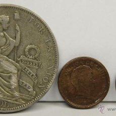 Monedas antiguas de América: MO-172 - COLECCIÓN DE 3 MONEDAS SURAMERICANAS(VER DESCRIP). 1909/1925/1951.. Lote 51024812