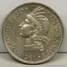 Monedas antiguas de América: MO-174 - MONEDA EN PLATA. REPUBLICA DOMINICANA. 1961. MEDIO PESO.. Lote 51037879