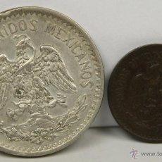 Monedas antiguas de América: MO-175 - COLECCIÓN DE 2 MONEDAS EN PLATA Y EN BRONCE(VER DESCRIP). E.U. MEJICANOS.1914.. Lote 51038664