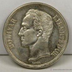 Monedas antiguas de América: MO-176 - MONEDA EN PLATA. E.U. DE VENEZUELA. 2 BOLIVARES. 1945.. Lote 51039174