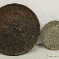 Monedas antiguas de América: MO-177 - COLECCIÓN DE 2 MONEDAS EN BRONCE Y NIQUEL(VER DESCIP). ARGENTINA. 1893/1912.. Lote 51040102