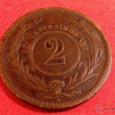 Monedas antiguas de América: URUGUAY, DOS CENTESIMOS DE 1869. Lote 54864115