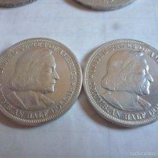 Monedas antiguas de América: LOTE DE 2 MONEDAS DE MEDIO DOLLAR COLON 1893. Lote 56148035