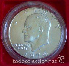 Monedas antiguas de América: Rarisima moneda dolar USA HOBO NICKEL Eisenhower 1974 raro modificado calavera firmada DC craneo - Foto 6 - 56280877