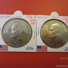 Monete antiche di America: ESTADOS UNIDOS 2 MONEDAS 1976-P-D KM206 MINT SET. Lote 56395100