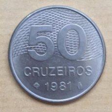 Monedas antiguas de América: 50 CRUCEIROS BRASIL 1981. Lote 56696602
