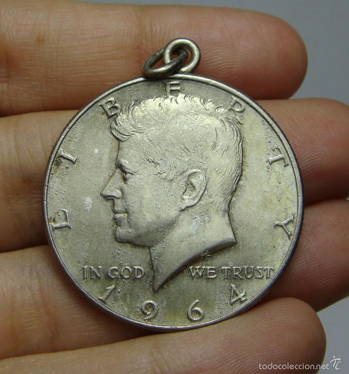 MEDALLA DE 1/2 DOLAR. PLATA. KENNEDY. U.S.A - 1964 (Numismática - Extranjeras - América)