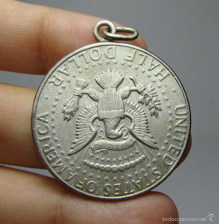 Monedas antiguas de América: Medalla de 1/2 Dolar. Plata. Kennedy. U.S.A - 1964 - Foto 2 - 56714770
