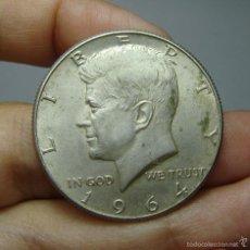 Monedas antiguas de América: 1/2 DOLAR - HALF DOLLAR. PLATA. KENNEDY. U.S.A - 1964. Lote 56741046