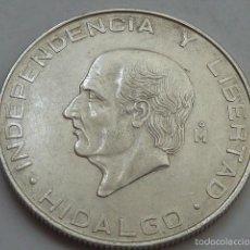 Monedas antiguas de América: MONEDA DE PLATA DE 5 PESOS DE MEXICO DE 1956, HIDALGO, EBC. Lote 57116310