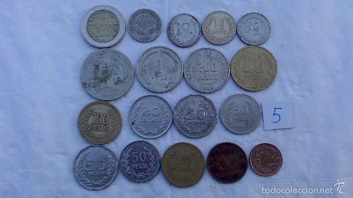 Monedas antiguas de América: lote monedas diferentes colombia - Foto 3 - 57526232