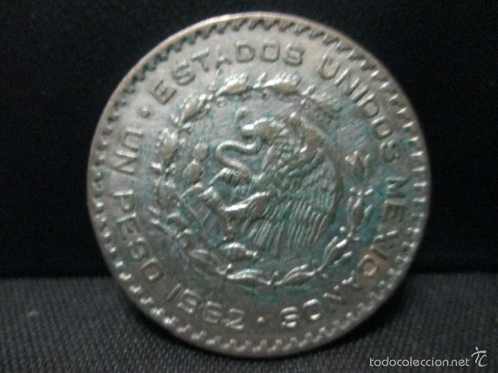 Monedas antiguas de América: 1 peso 1962 mexico plata - Foto 2 - 57762150