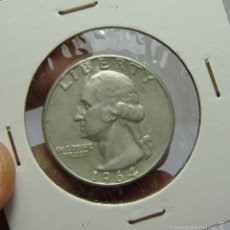 Monedas antiguas de América: 1/4 DOLAR. PLATA. 1964. GEORGE WASHINGTON.. Lote 57989694