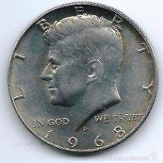 Monedas antiguas de América: HALF DOLLAR KENEDY. Lote 42618918
