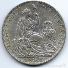 Monedas antiguas de América: 1 SOL 1914 PERÚ - LIMA. Lote 42619946