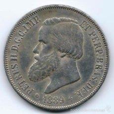 Monedas antiguas de América: 2000 REIS 1889 BRASIL PETRUS II. Lote 42621026