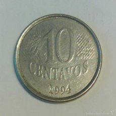 Monedas antiguas de América: BRASIL *** MONEDA 10 CENTAVOS DE REAL *** AÑO 1994. Lote 58083606