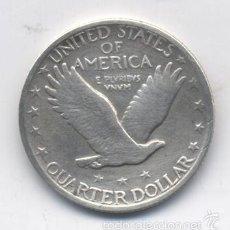 Monedas antiguas de América: ESTADOS UNIDOS-1/4 DOLAR-1923-PLATA-RARA. Lote 143690049