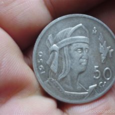 Monedas antiguas de América: 50 CENT PLATA 1950 MEXICO. Lote 59977903