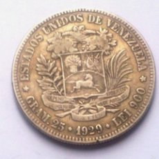 Monedas antiguas de América: MONEDA VENEZOLANA DE PLATA.. Lote 60110655
