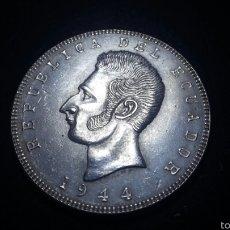 Monedas antiguas de América: ECUADOR 5 SUCRES DE PLATA DE 1944 BELLISIMA. Lote 60703063
